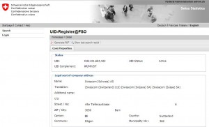 Example UID in English of Swisscom