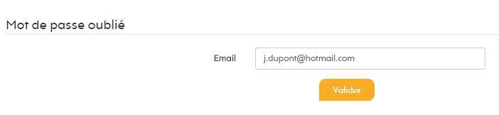 Pour envoyer un email de validation