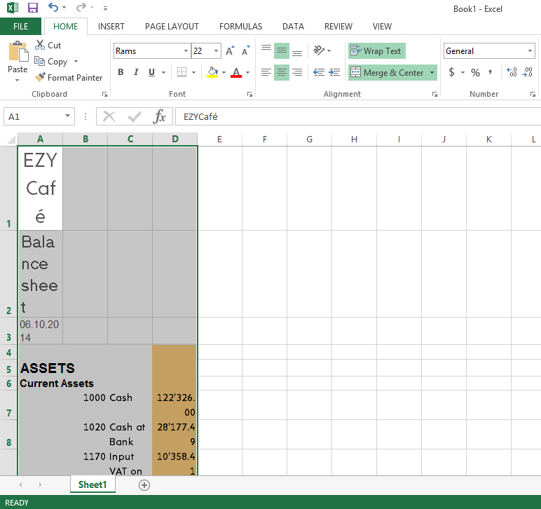 Paste in the Excel sheet
