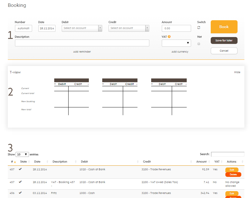 Simple booking page
