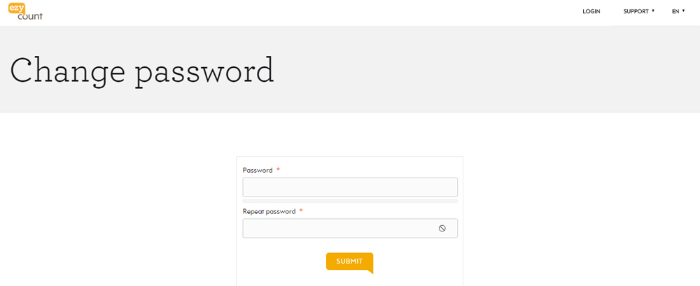 Input new password