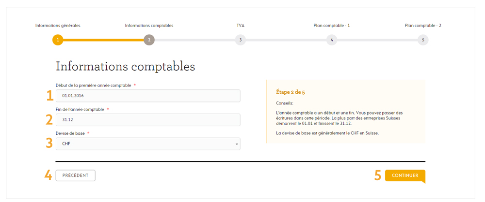 Informations comptables