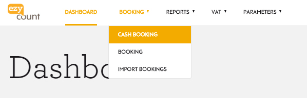 Button cash booking