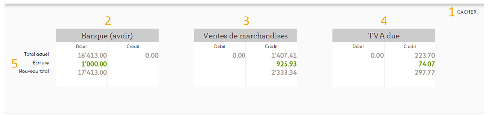 Visualisation en comptes en T