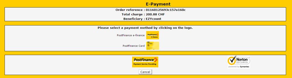 Postfinance Page