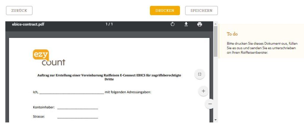PDF Dokument zu unterschreiben