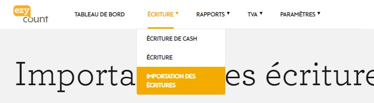 Importation d'écritures dans EZYcount