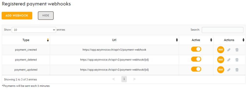 Payment link EZYcount to invoice