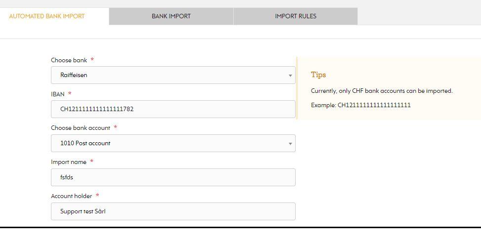 Import page EZYcount